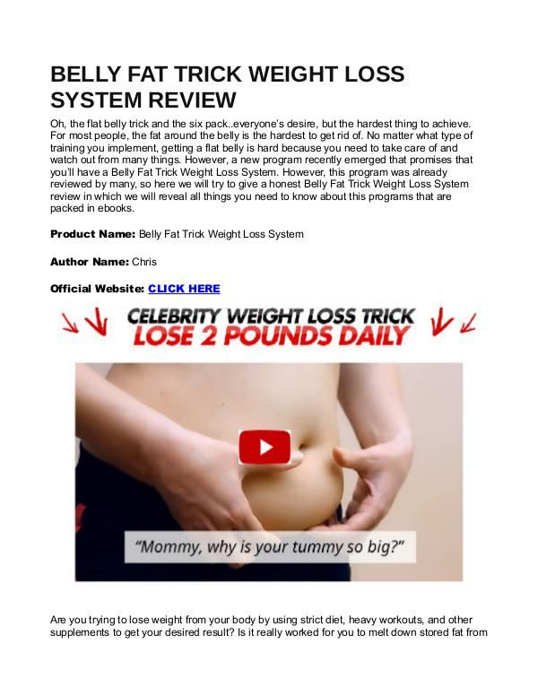 system 10 precision weight loss