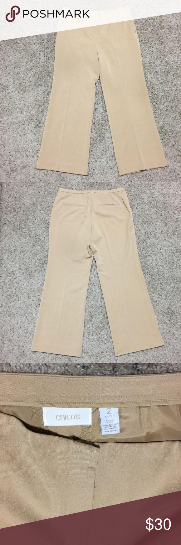 Selling this Chicos 2 Short/Petite Size 12/Large Khaki Slacks on Poshmark! My username is: mtnoonan. #shopmycloset #poshmark #fashion #shopping #style #forsale #Chico's #Pants