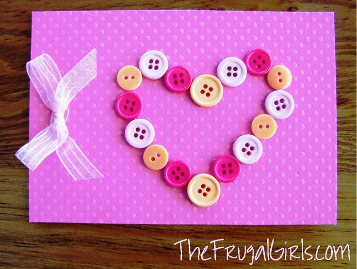 How To Make Beautiful Birthday Cards At Home Part - 35: Need Some Fun Ideas To Make Homemade Valentineu0027s Day Cards Or Surprise Love  Notes For Your Lovies? Grab Your Stash Of Buttons And Make An Oh-so-sweet  Button ...