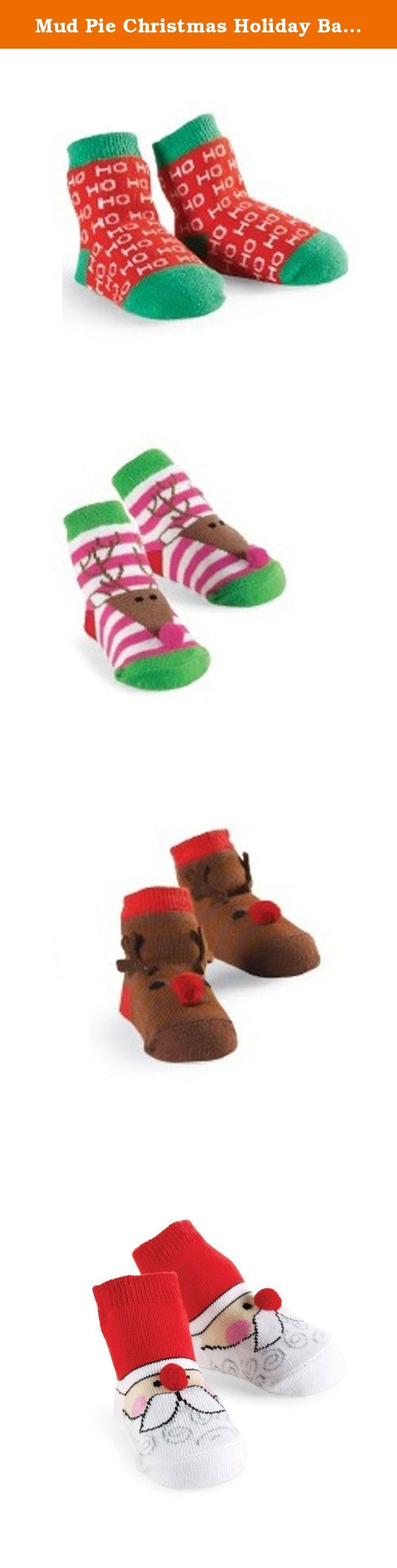 Mud Pie Christmas Holiday Baby Boy or Girl Socks (HO HO HO 1542075). Mud Pie is a lifestyle brand offering endless cross-merchandising opportunities. Their Kids, Living and Fashion collections lead the industry with grab-and-go gifts and affordable style-apparel, keepsakes and layette in kids; women's fashion and accessories; and boxed gifts for home entertaining or gifting. This season, Mud Pie is also the go-to resource for initials in every category with over 30 new programs and dozens…