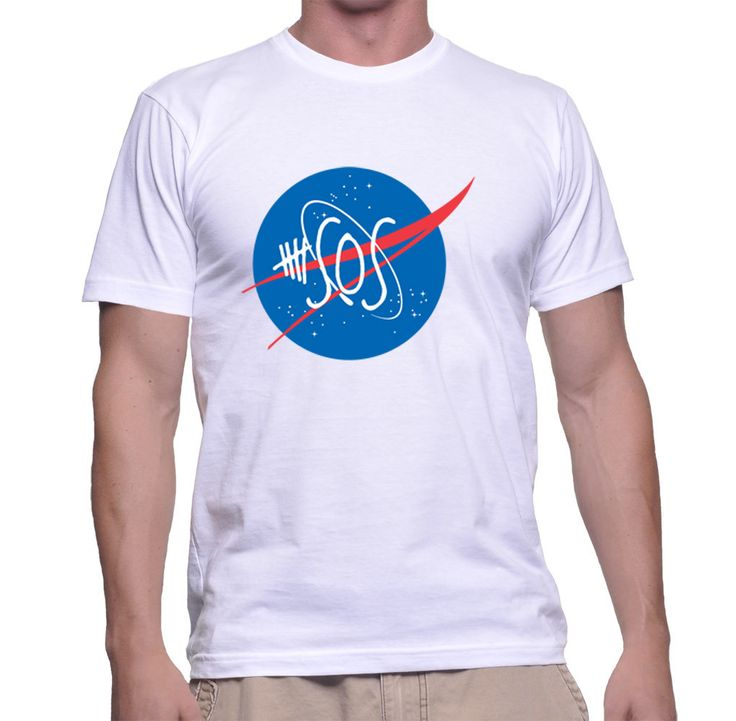 5 Seconds Of Summer 5sos Nasa Logo For Men T-shirt
