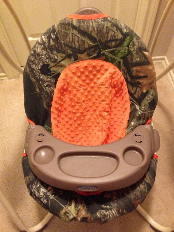 Graco Baby Swing Cover  RealTree and Orange by KimsWhimsy on Etsy
