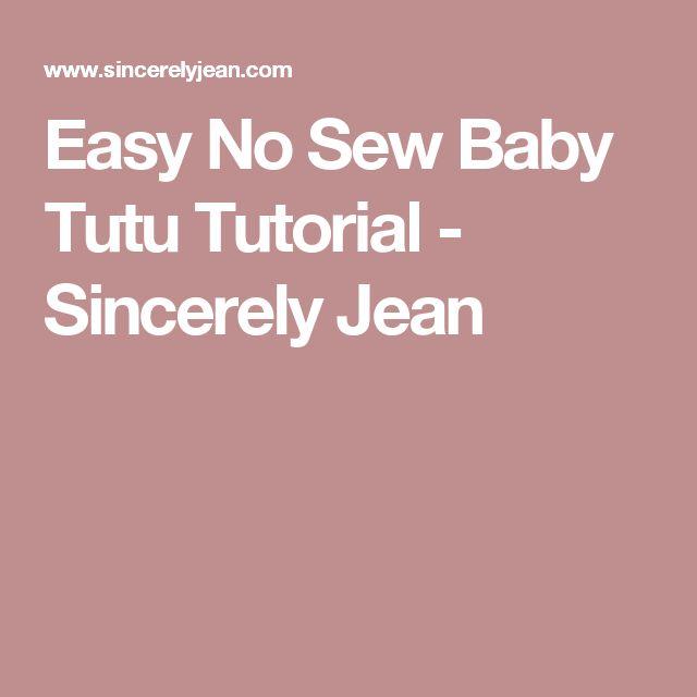 Easy No Sew Baby Tutu Tutorial - Sincerely Jean