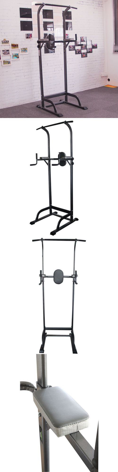 Pull Up Bars 179816: Heavy Duty Dip Station Power Tower Pull Push Chin Up Bar Home Gym Fitness Us -> BUY IT NOW ONLY: $99 on eBay!