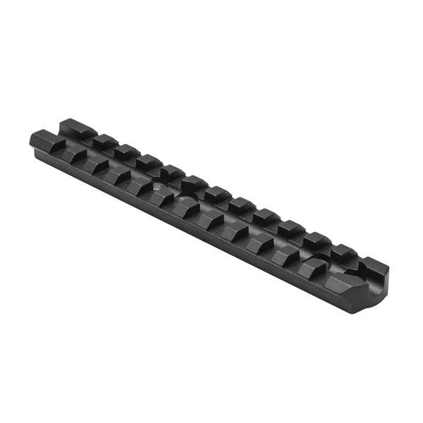 NcStar Moss 500/590 Shotgun Reciever Picatinny Rail Mount - Mossberg(R) 500/590 Shotgun Receiver Picatinny Rail MountFeatures:Mossberg(R) 500/590 Receiver Picatinny Rail Mount for mounting Optics to your Shotgun.Rail is designed to fit Mossberg(R) 500/590 models with the factory pre-drilled holes on top of the shotgun receiver. Low Profile Picatinny Rail design with See-Through Channel allows you to still use the Front Bead Sight.Includes mounting screws.All Aluminum Construction. Black…