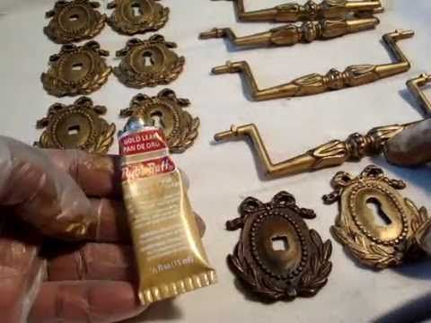 DIY How To Use Rub'n Buff and Restore Tarnished Hardware- Video #5