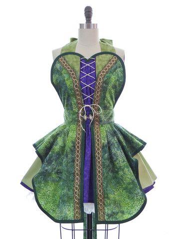 Hocus Pocus Green Witch Apron