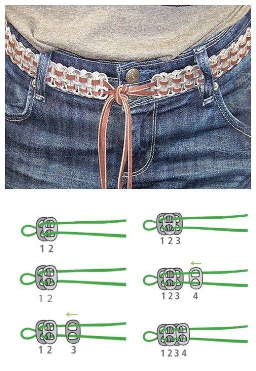 How to DIY Pretty Soda Pull Tab Belt | www.FabArtDIY.com LIKE Us on Facebook ==> https://www.facebook.com/FabArtDIY