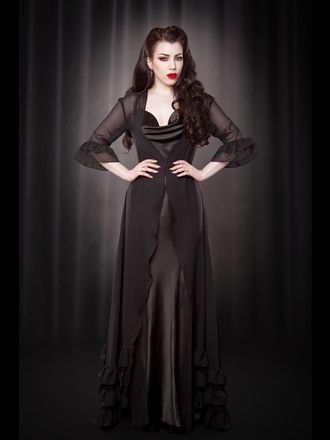 Grace Ruffle Robe | Kiss Me Deadly
