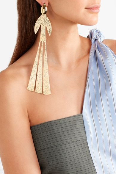 J.W.Anderson   Hammered gold-plated earring   NET-A-PORTER.COM