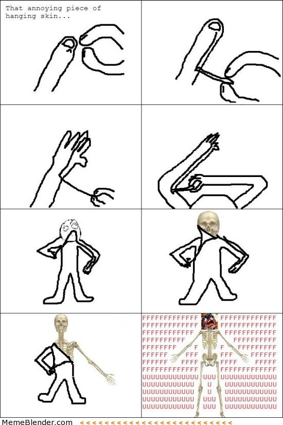 Rage Comics – That bit of skin