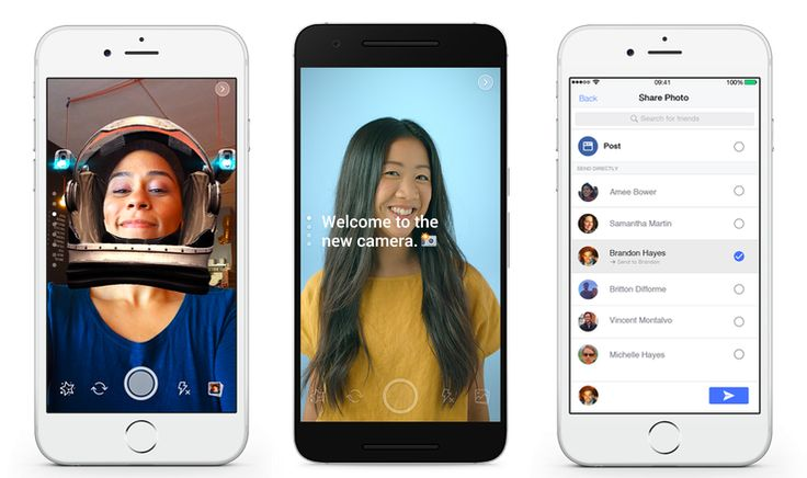 Facebook tests Snapchat-style camera special effects with ephemeral sharing   TechCrunch