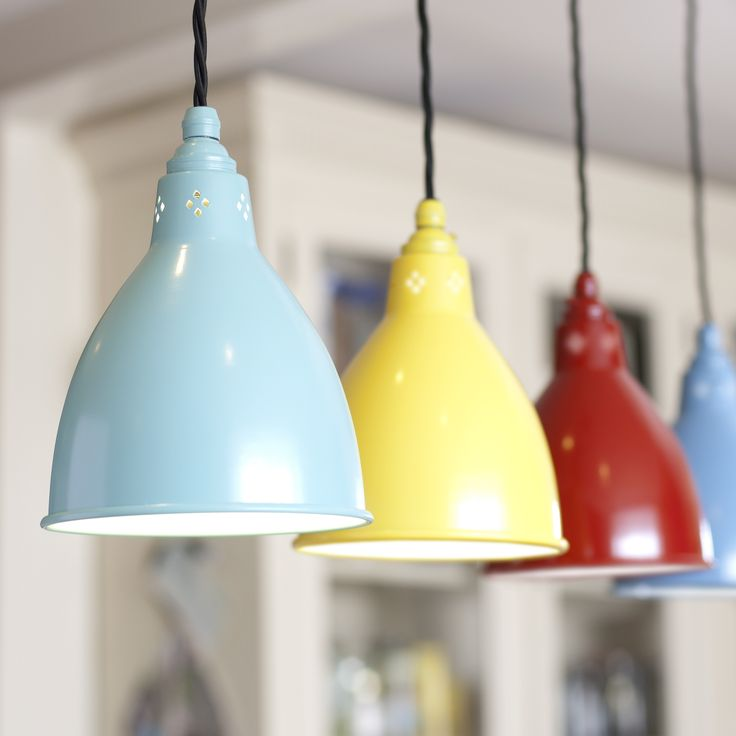 Barbican Pendant Light finished in Yellow