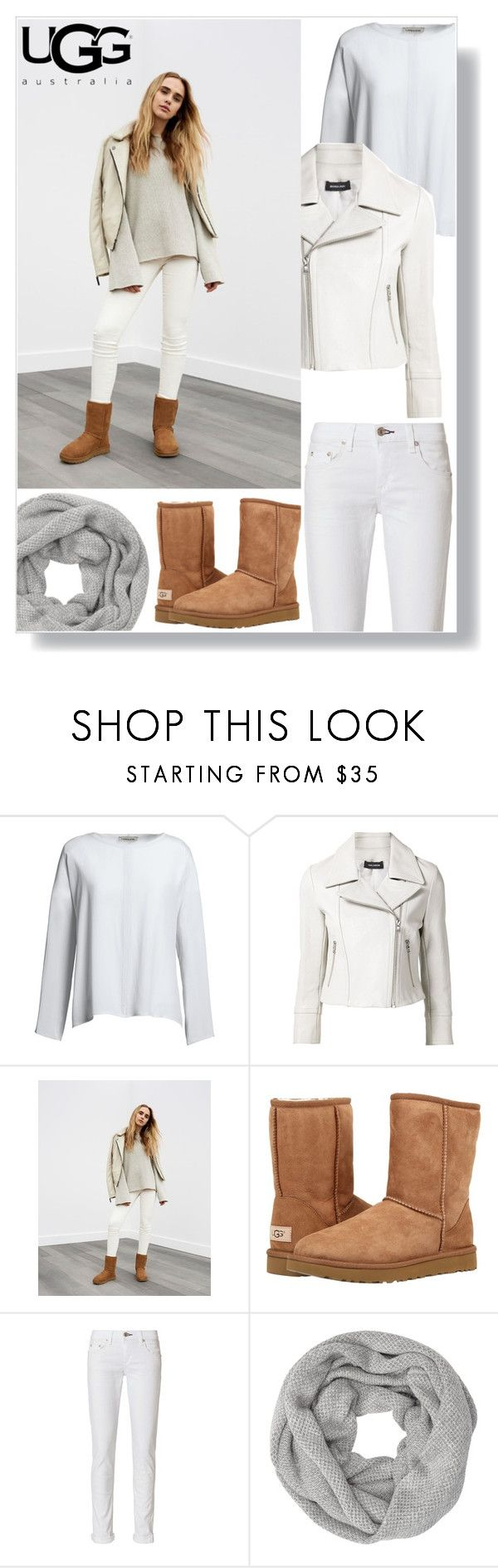 """""""The Icon Perfected: UGG Classic II Contest Entry"""" by lana-baloley ❤ liked on Polyvore featuring Canvas by Lands' End, Yigal AzrouÃ«l, UGG, UGG Australia, rag & bone, John Lewis, ugg and contestentry"""
