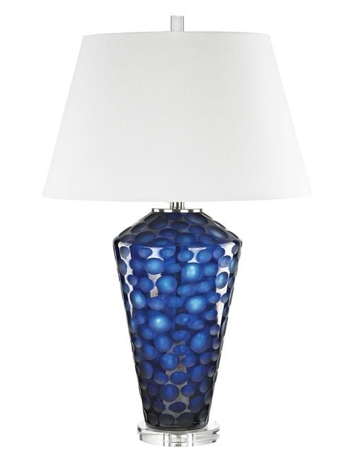 Fresh Dark Blue Lamp Base