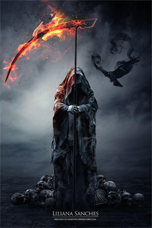 o ceifador de Raven por Princesa-de-Sombras
