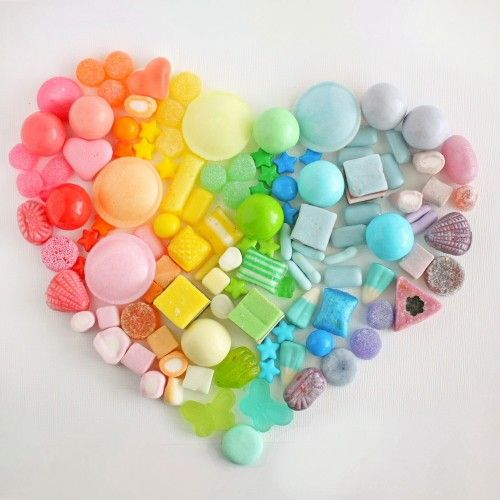 heart of rainbow candy :)