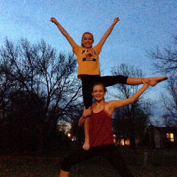 We got bored and decided to do some basic 2 person cheer stunts