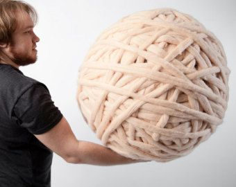 Hilo grueso. Super voluminosos hilos 100% lana Merino. por woolWow