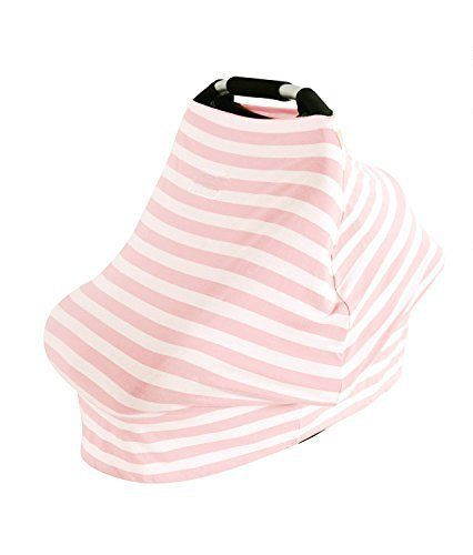 #AMAZLINEN versatile baby car seat covers can be also used as Nursing Cover,Shopping Cart Cover, High Chair Cover, and even Infinite Scarf! The breathable and st...