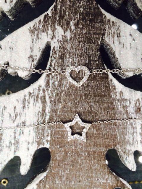Bracciale e girocollo oro bianco 18kt diamanti pagina facebook  Della Spiga Gioielli