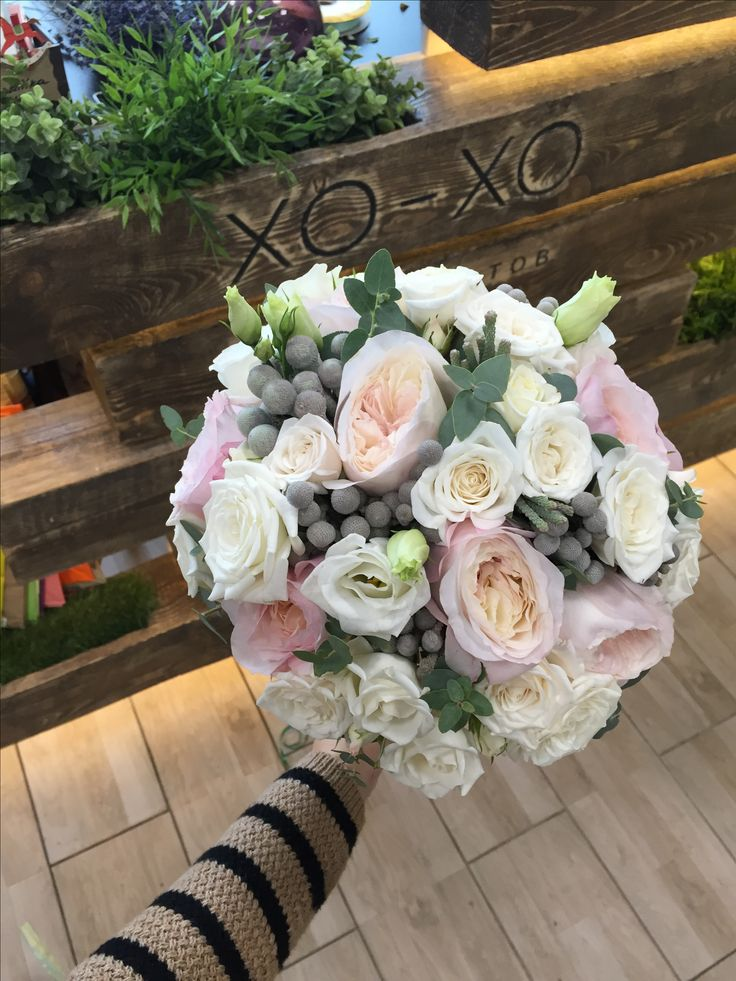 A gentle bouquet of the bride. Rose of the Keyra. Garden and pion shaped Roses. Нежный букет невесты. Роза кейра. Садовые и пионовидные Розы.