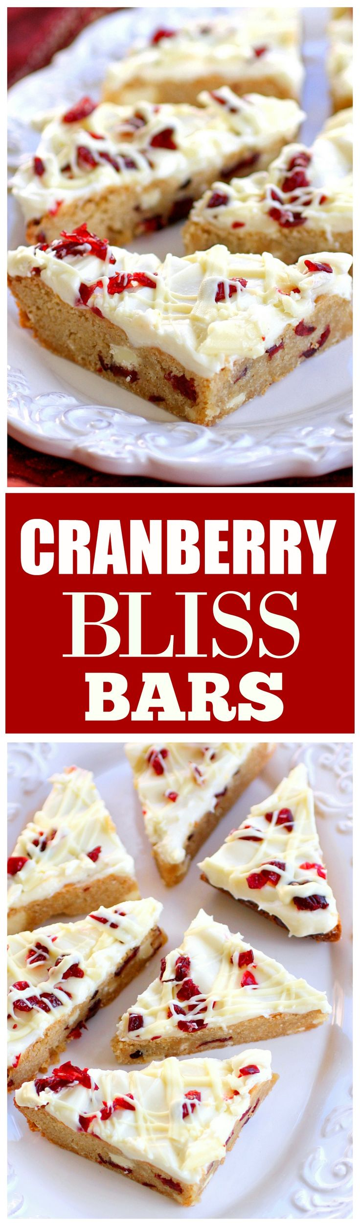 HOLIDAY BOARD: Cranberry Bliss Bars