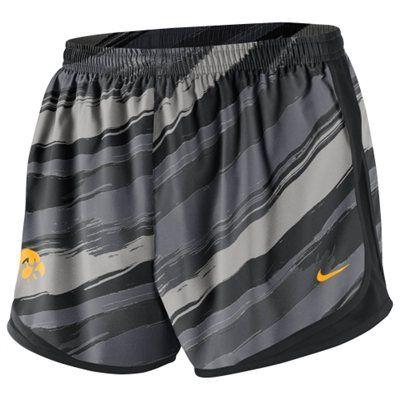 Nike Iowa Hawkeyes Ladies Seasonal Painter Shorts - Black