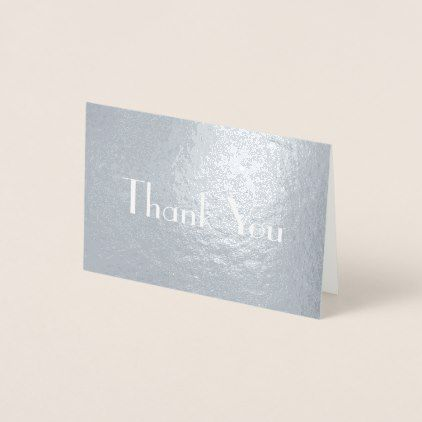 Chic Stylish Font Thank You Foil Card - #chic gifts diy elegant gift ideas personalize