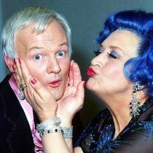 Two of my all-time favorite comic actors...John Inman and Mollie Sugden, God rest them both.