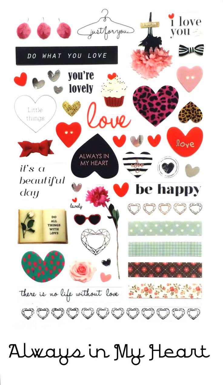 Oh So Lovely Sticker Sheet by LittleSurpriseShoppe on Etsy