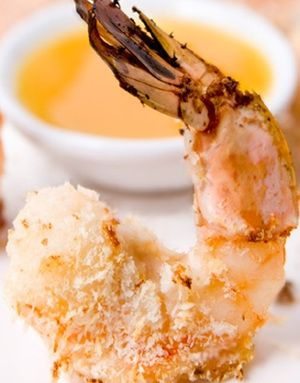 Baked shrimp with orange sauce.Shrimp with honey and spices baked in ...