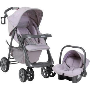 Conjunto: Carrinho de Bebê Burigotto Línea Ametista + Bebê Conforto Burigotto Touring Ametista     Carrinho de Bebê Burigotto Línea  Para crianças até 15 kg