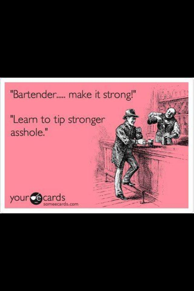 Every bartender will appreciate this!