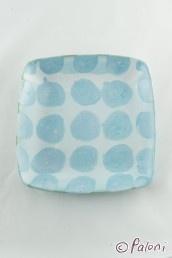 Ruutu-plates (light blue big dot) by Sarita Koivukoski