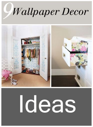 9 Wallpaper Decor Ideas - dresser drawers (lining and sides!) and in closet/ kitchen cabinets