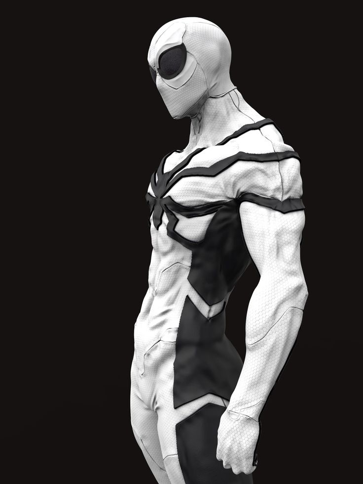 Spiderman Future foundation costume, Stivens trujillo Sanchez on ArtStation at https://www.artstation.com/artwork/E1ob4