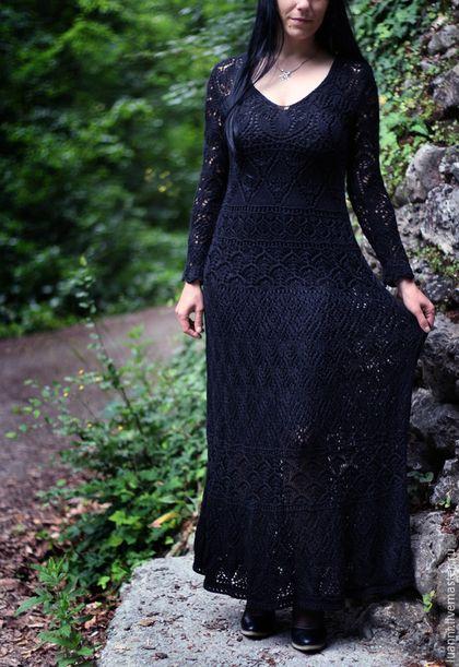"""Платья ручной работы. Ярмарка Мастеров - ручная работа. Купить Вязаное платье """"Ночь"""". Handmade. Платье, платье вязаное"""
