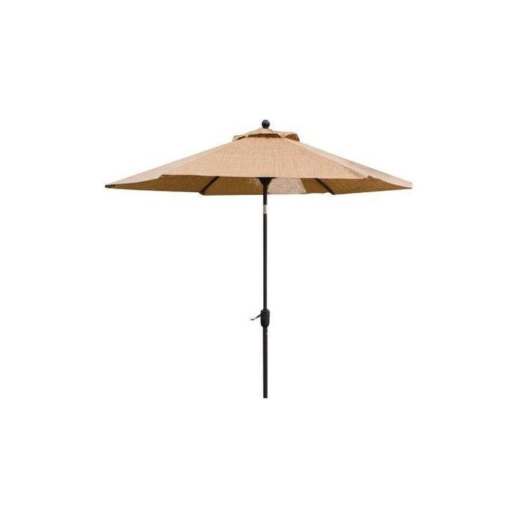 Hanover Outdoor Monacoumb Table Umbrella for the Monaco Outdoor Dining Collection - sand (Brown)