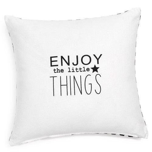 Housse de coussin en coton blanche 40 x 40 cm ENJOY THINGS