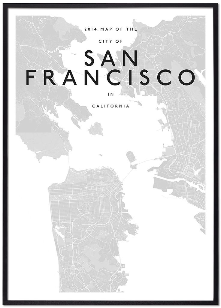 map from home to work modern san francisco map in 2019 home graphic design 2115