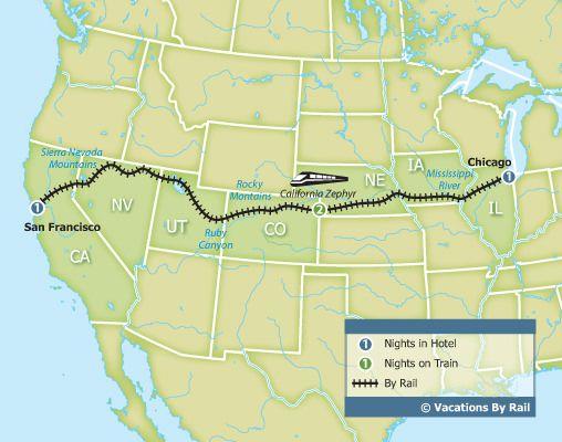 California Zephyr Experience - Chicago to San Francisco