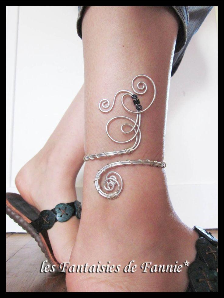 Bracelet cheville DESIGN aluminium