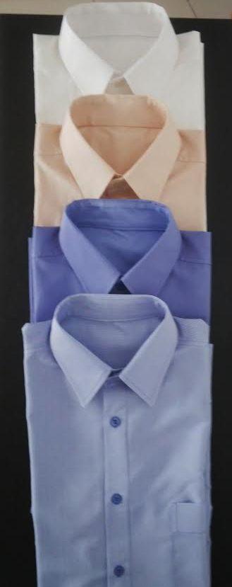 Camisas de diario en algodón de diferentes colores.
