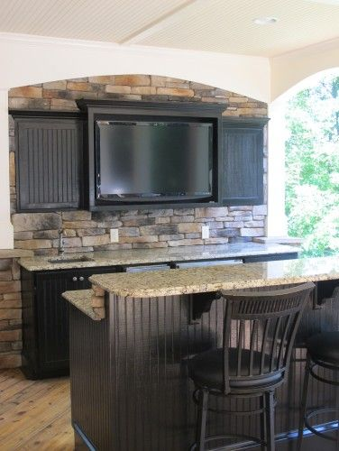This would be a nice basement bar | Home Bar 101 | Bars for home, Basement kitchen, Patio bar