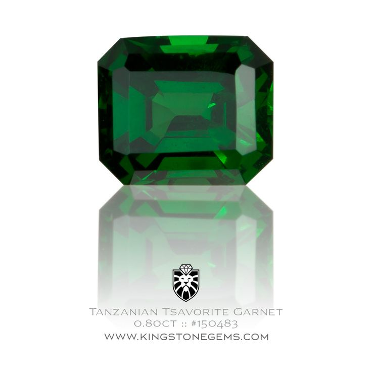 Tsavorite Garnet Emerald Cut 0.80ct - 5.64X4.78X3.26mm - SKU# 150483 - Visit our collection to see this and many more fine precious natural coloured gemstones.