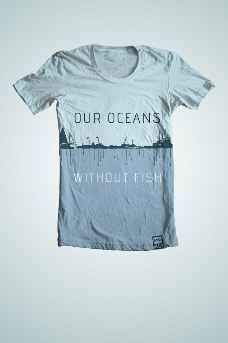 T shirt design inspiration typography - No Fish Ocean Tee Shirt