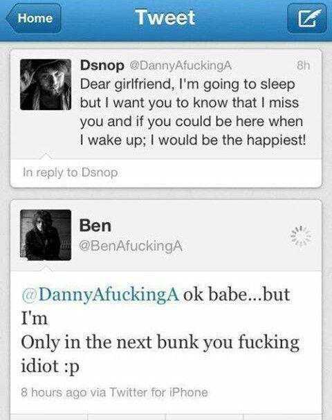 Bensnop <3 fucking love them haha