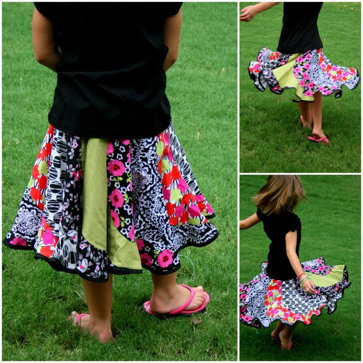 Bunches and Bits: Sewing Spiral Skit Pattern from: http://www.youcanmakethis.com/products/How-to-Make-Spiral-Skirts