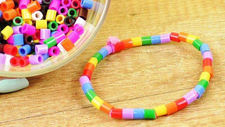 Bügelperlen Armband super einfach selber machen   Basteln mit Kindern   Schmuck DIY